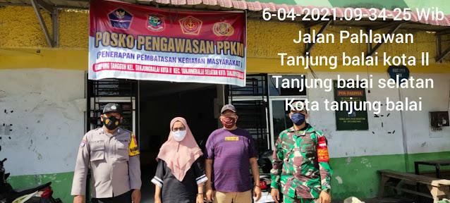 Pengawasan PPKM Skala Micro, Dilaksanakan Personel Jajaran Kodim 0208/Asahan Diwilayah Binaan