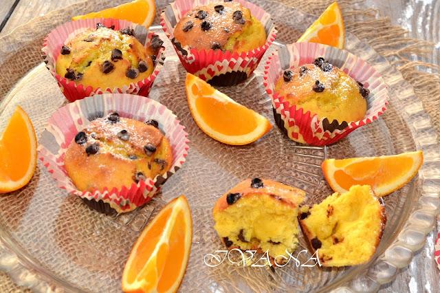 Мъфини с портокал и шоколад