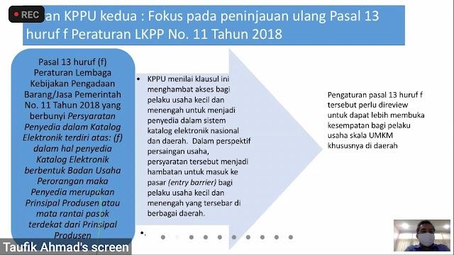 KPPU Tunggu Respon LKPP Terkait Partisipasi UMKM Dalam E-Katalog,