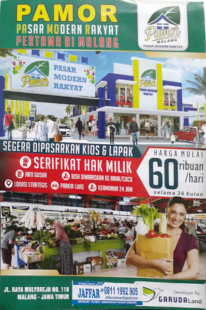 Brosur depan, Pamor Malang - Pasar Modern Rakyat pertama di Malang