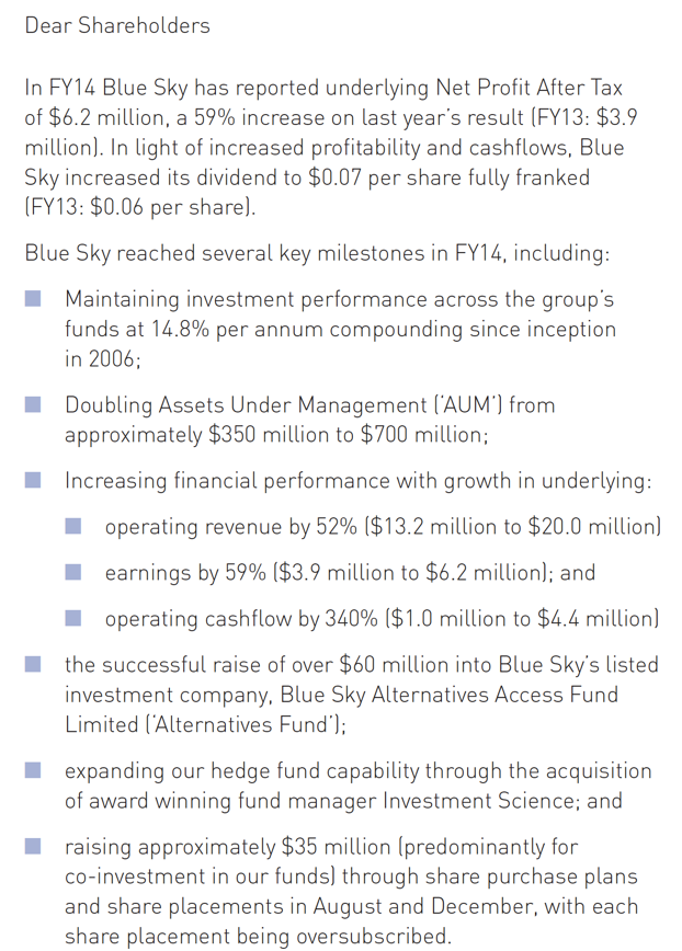 Blue Sky - some notes and an agenda for ASIC