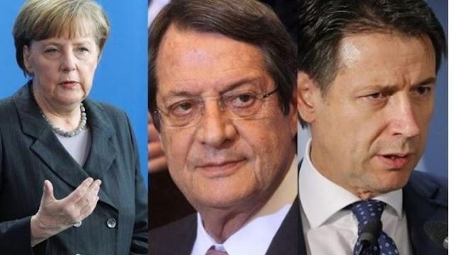 Ο Αναστασιάδης μίλησε τηλεφωνικά με Μέρκελ και Κόντε - Τι είπαν για τις τουρκικές προκλήσεις