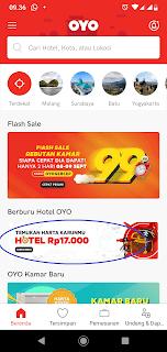 """Masuk ke aplikasi dan pilih banner """"Temukan Harta Karunmu: Hotel Rp 17.000 ."""