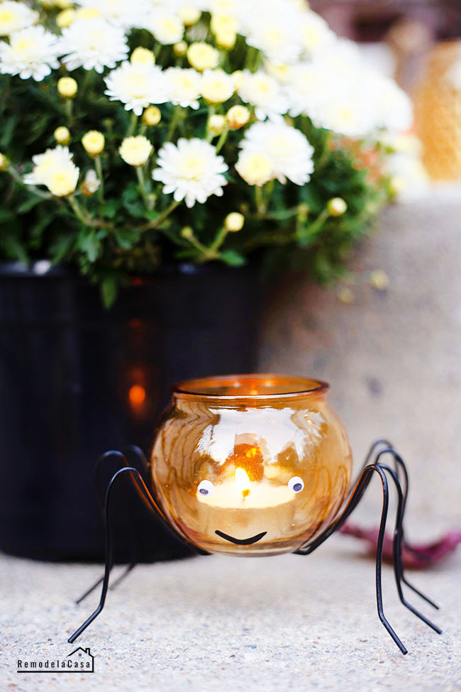Cute spider tea candle holder