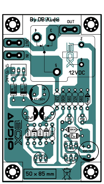 PCB Layout Speaker Protector TOp