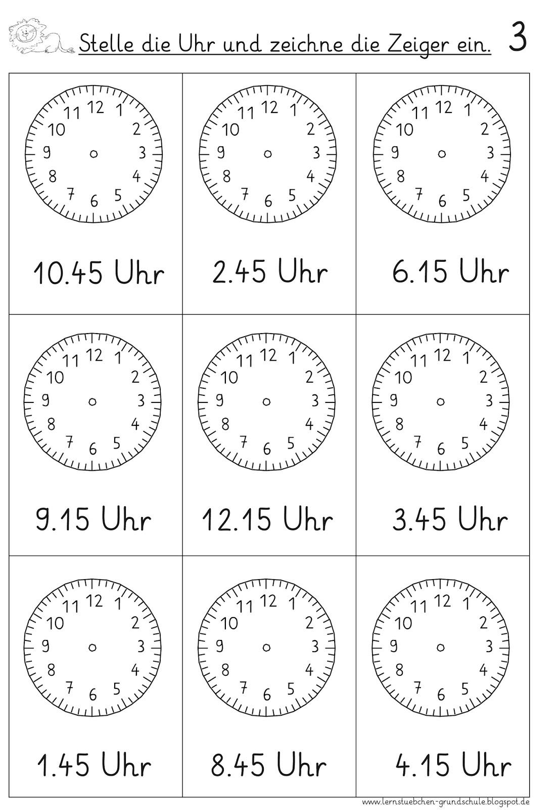 Lernstubchen Vorgegebene Uhrzeiten Einstellen 4