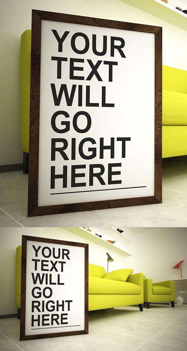 Free Modern Room Frame Mockup PSD | Freebies PSD