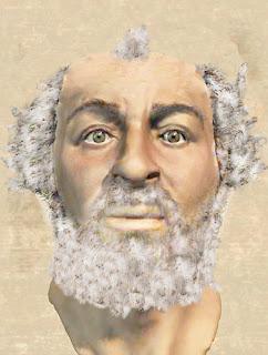 das wahre Gesicht von Archimedes rekonstruiert