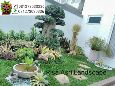 gambar taman, taman minimalis, taman tropis batu, roof garden, taman atap