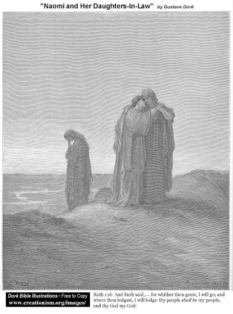 Naomi and her daughers-in-law - Gustave Dore
