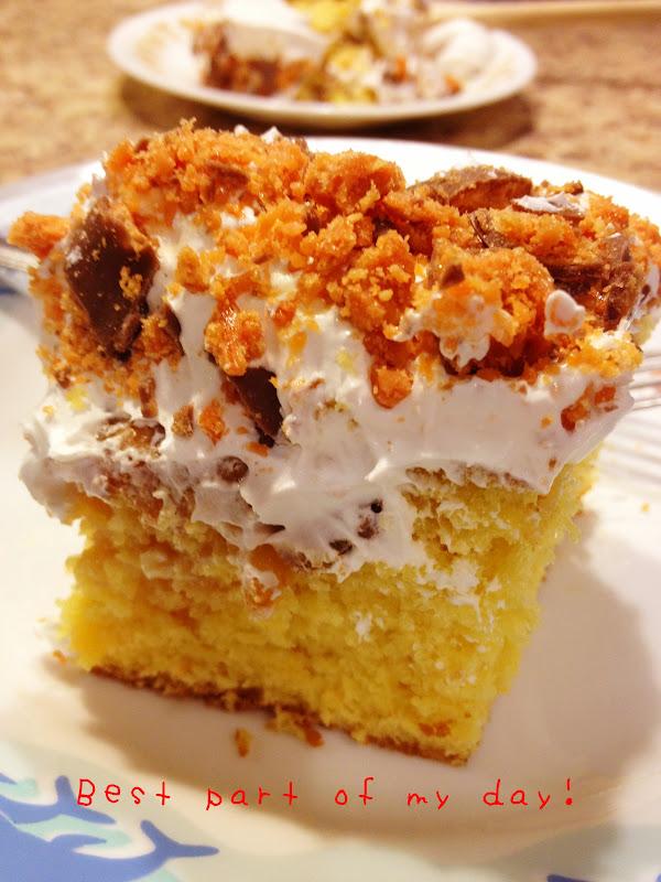 How Do U Make A Butterfinger Cake