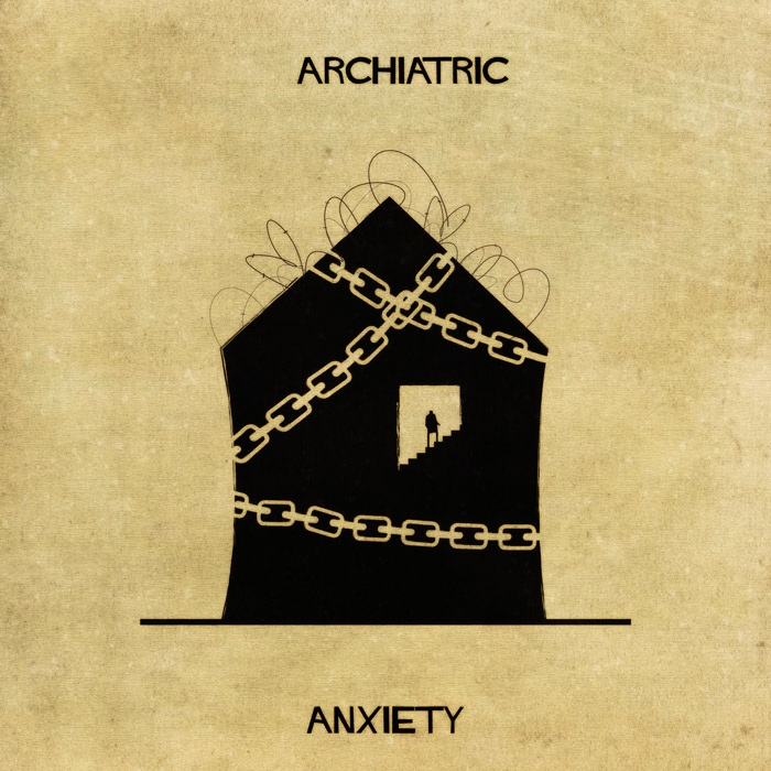 07-Anxiety-Federico-Babina-ARCHIATRIC-Mental-Health-Illustrations-Paired-with-Architecture-www-designstack-co