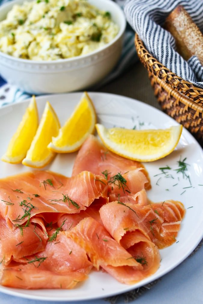 Smoked Salmon and Egg Salad #eggsalad #tartines #smokedsalmon