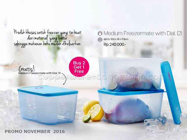Medium Freezermate with Dial Promo Tupperware November 2016