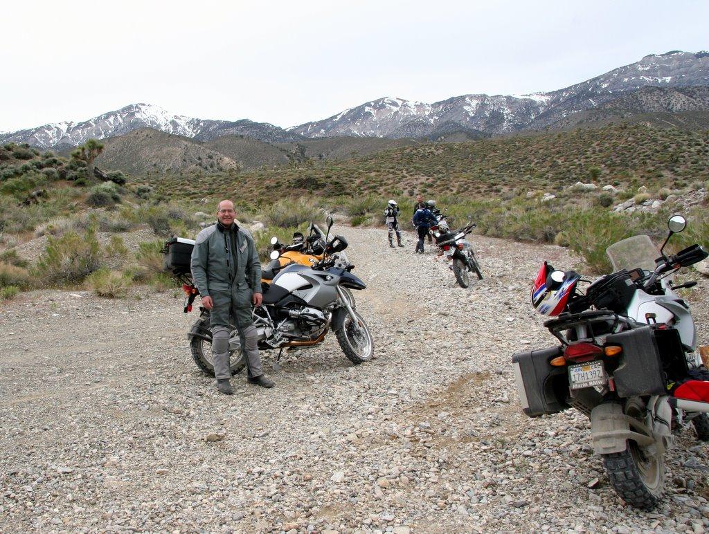 RawHyde Adventure Rally at Ballarat, CA - Tim Campion at approach to Cerro Gordo