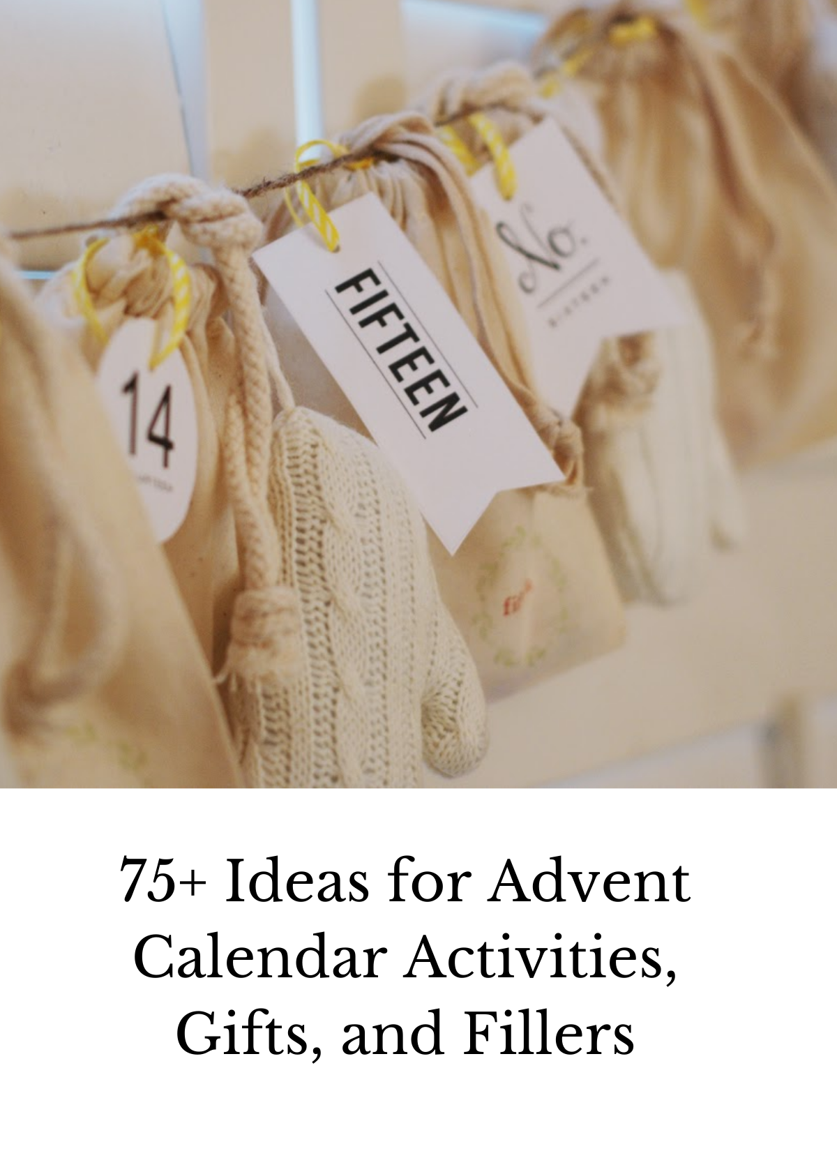 ideas for advent activities fillers gifts