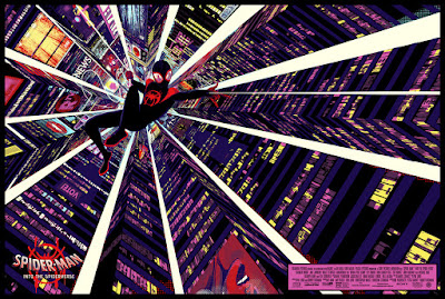 Spider-Man: Into the Spider-Verse Movie Poster Variant Screen Print by Raid71 x Grey Matter Art