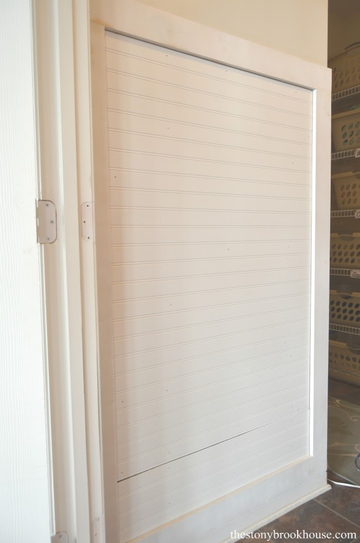 Beadboard for mudroom wall