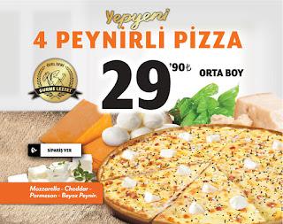 Little Caesars 4 peynirli pizza kampanyası pizza kupon kodu