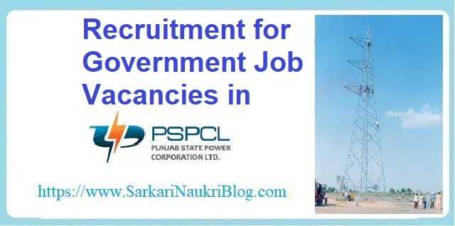 PSPCL  Govt. Job Vacancy Recruitment