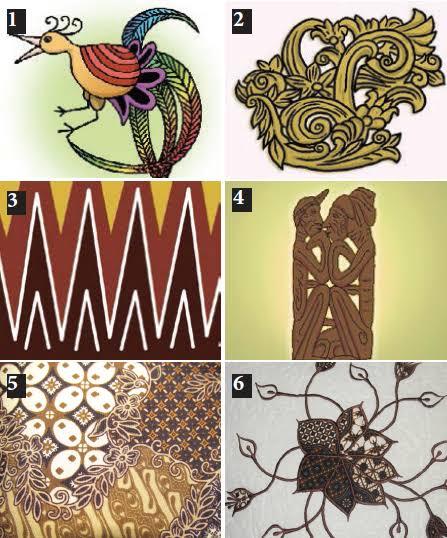 Ragam Hias Pengertian Contoh Motif Flora Fauna Geometris Figuratif Kerajinan Prakarya
