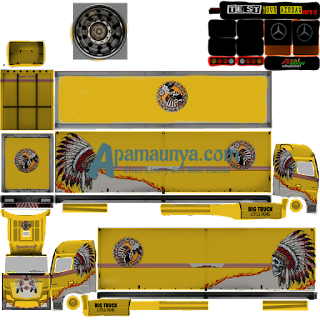 Download Livery Truck Mercy Actros Roda 18 Acxtros V2