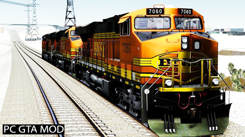 Free Download GE ES44DC - BNSF Locomotive V2 Mod for GTA San Andreas.