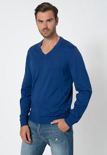 Gant - Мъжки Пуловер от памук и кашмир