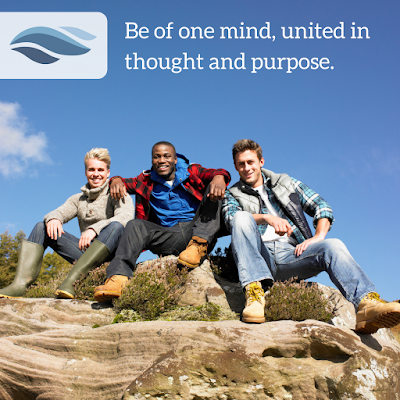 Be of one mind, united in thought and purpose.