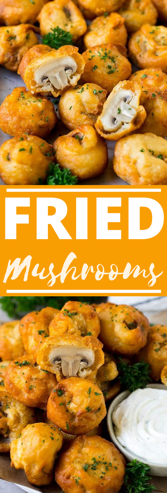 Fried Mushrooms #vegetarian #appetizers #vegan #sidedish #fingerfood