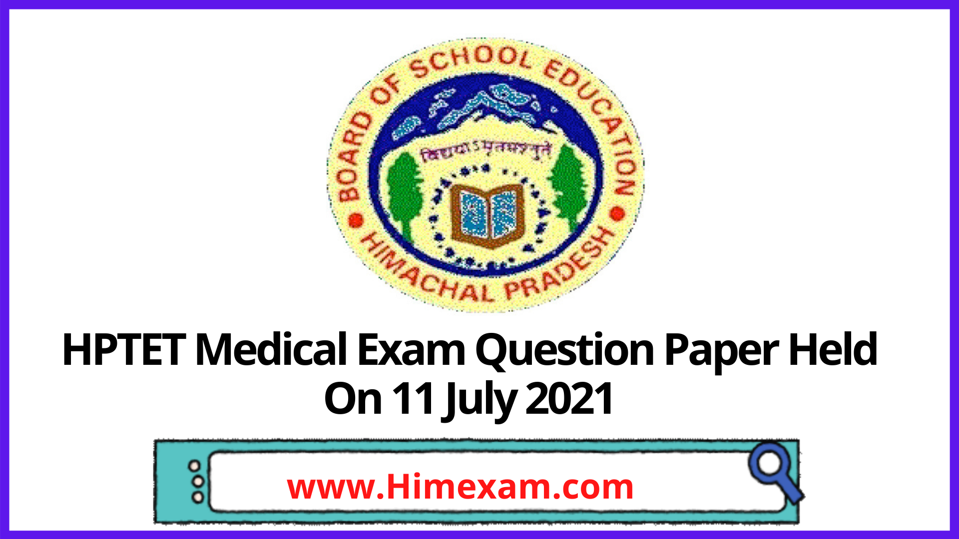 HPTET Medical Exam Question Paper Held On 11 July 2021