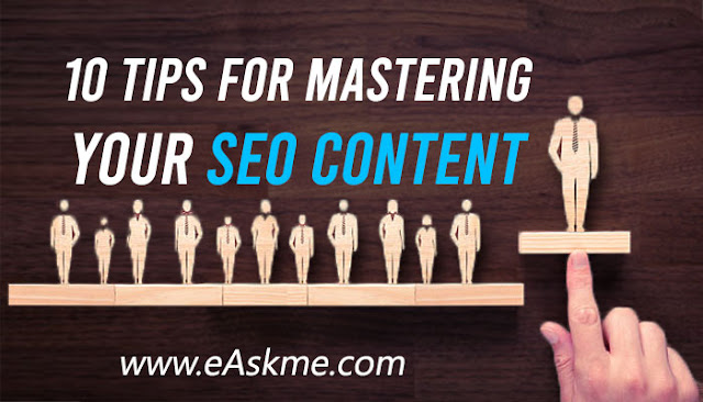 10 Tips for Mastering Your SEO Content in 2020: eAskme