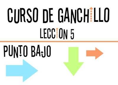 Curso de Ganchillo-Lección 5