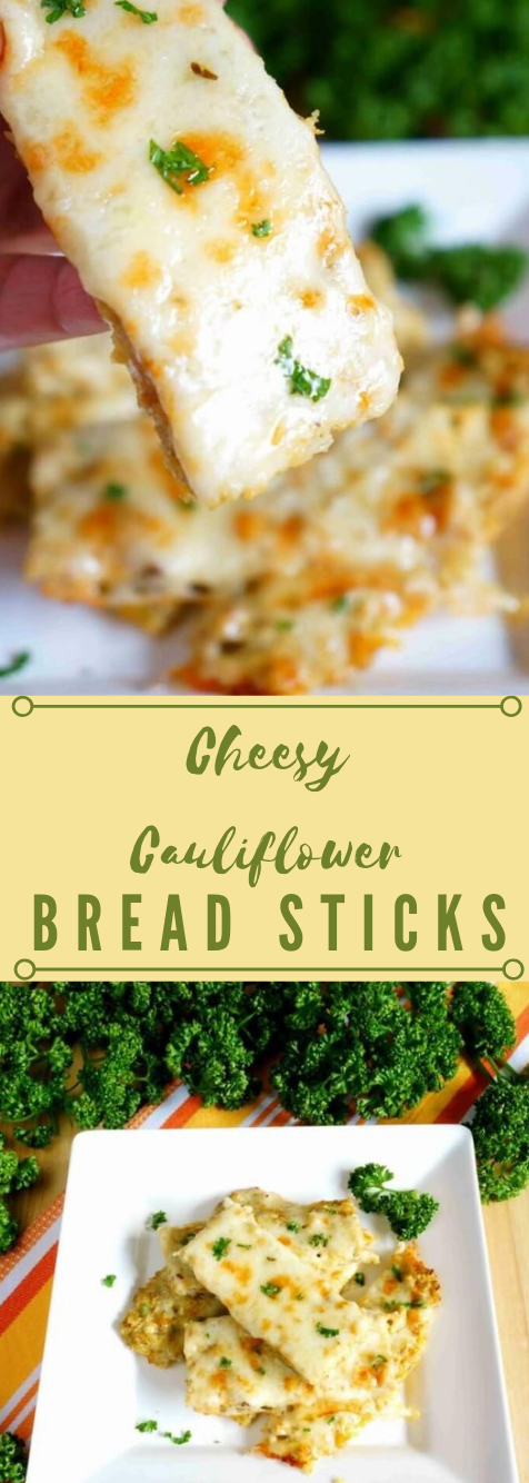 Cheesy Keto Cauliflower Bread Sticks #stick #keto #paleo #cauliflower #whole30