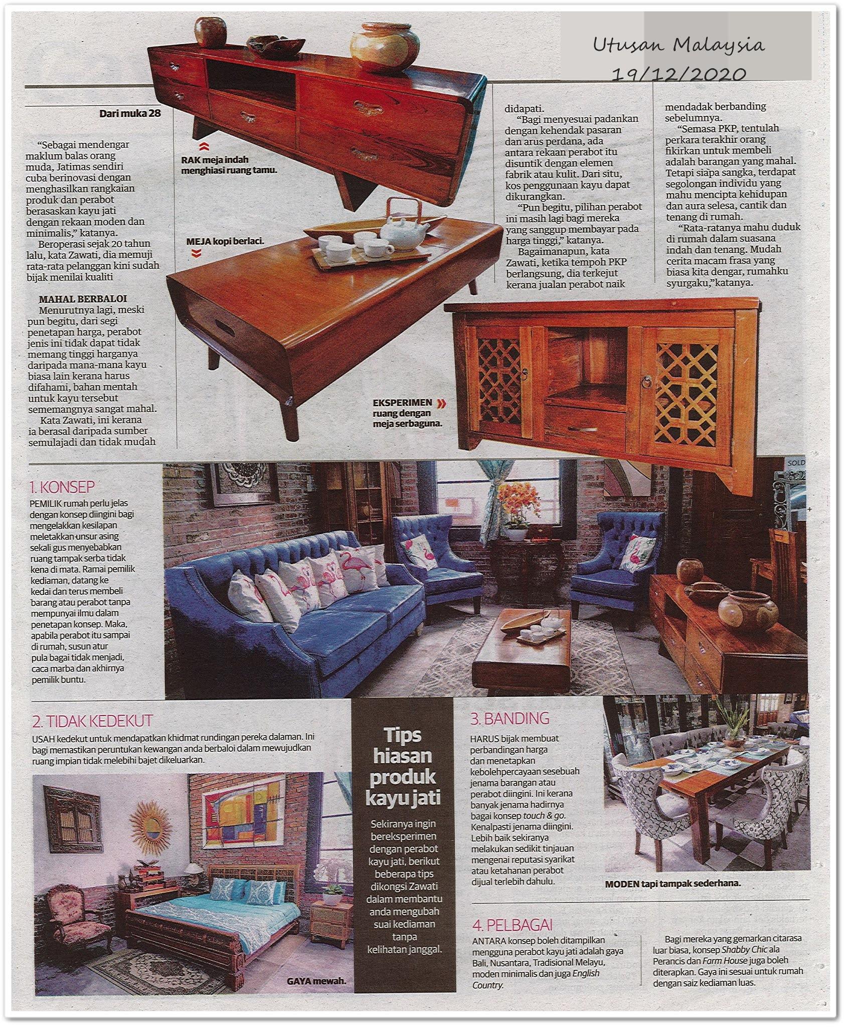 Perabot jati malarsegar ; suntik gaya klasik kediaman rumah