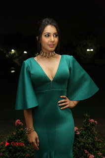Raashi Khanna Pictures in Green Long Dress at Hyper Trailer Launch | ~ Bollywood and South Indian Cinema Actress Exclusive Picture Galleries