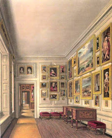 Queen Caroline's Closet, Kensington Palace, from The History of the Royal Residences by WH Pyne (1819)