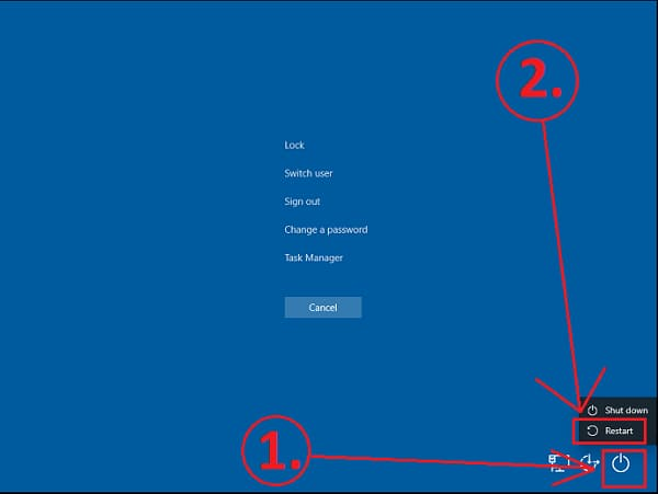 Sift alt and delete key of windows 10