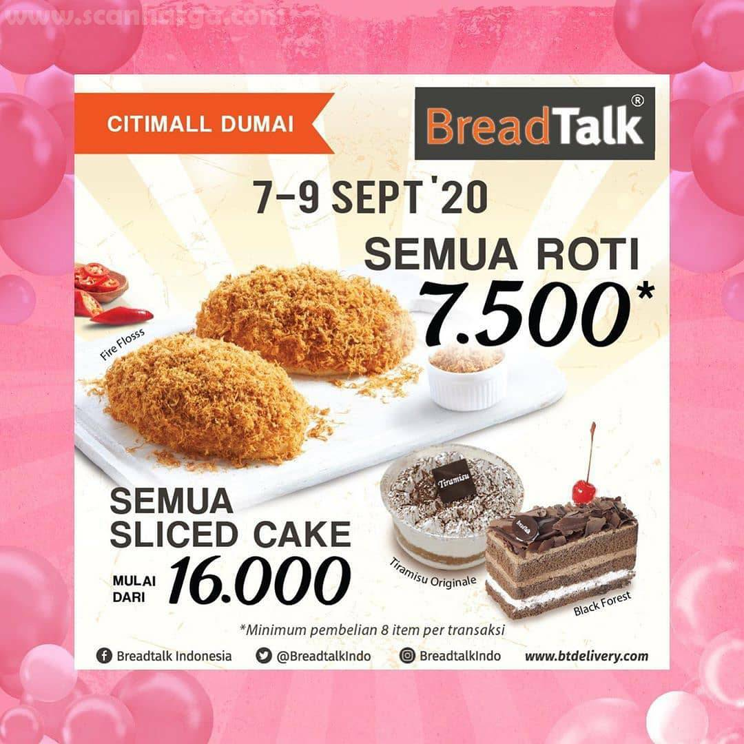 Breadtalk Promo Semua Roti 7.500 Periode 7 - 9 September 2020