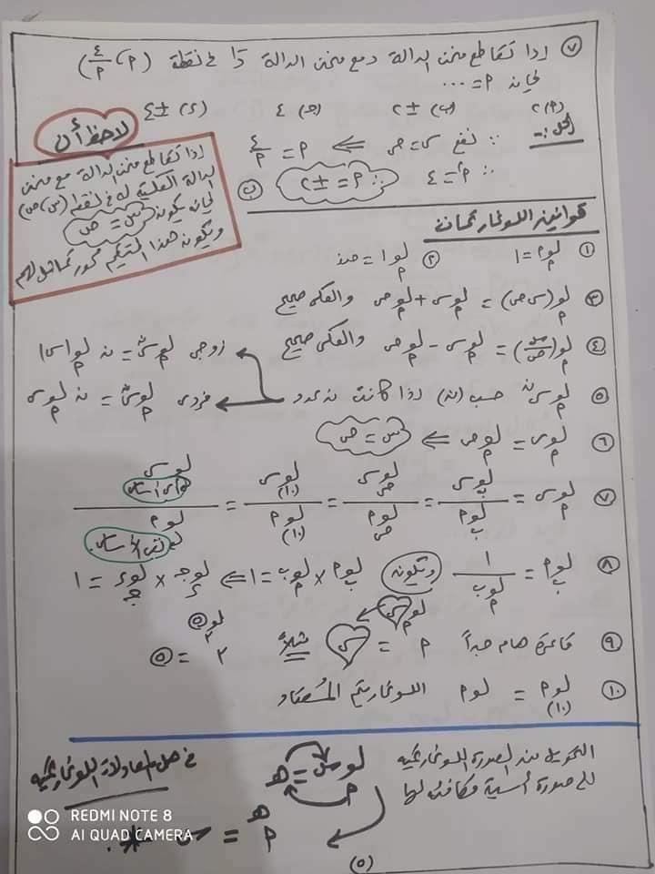 مراجعه جبر 2 ثانوي بالاجابات أ/ يحيي شعيشع 5