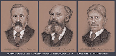 Hermetic Order of the Golden Dawn. William Wynn Westcott, William Robert Woodman and S.L. MacGregor Mathers. by Travis Simpkins