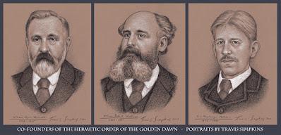 Hermetic Order of the Golden Dawn. William Wynn Westcott, William Robert Woodman and S.L. MacGregor Mathers. by Travis Simpkins