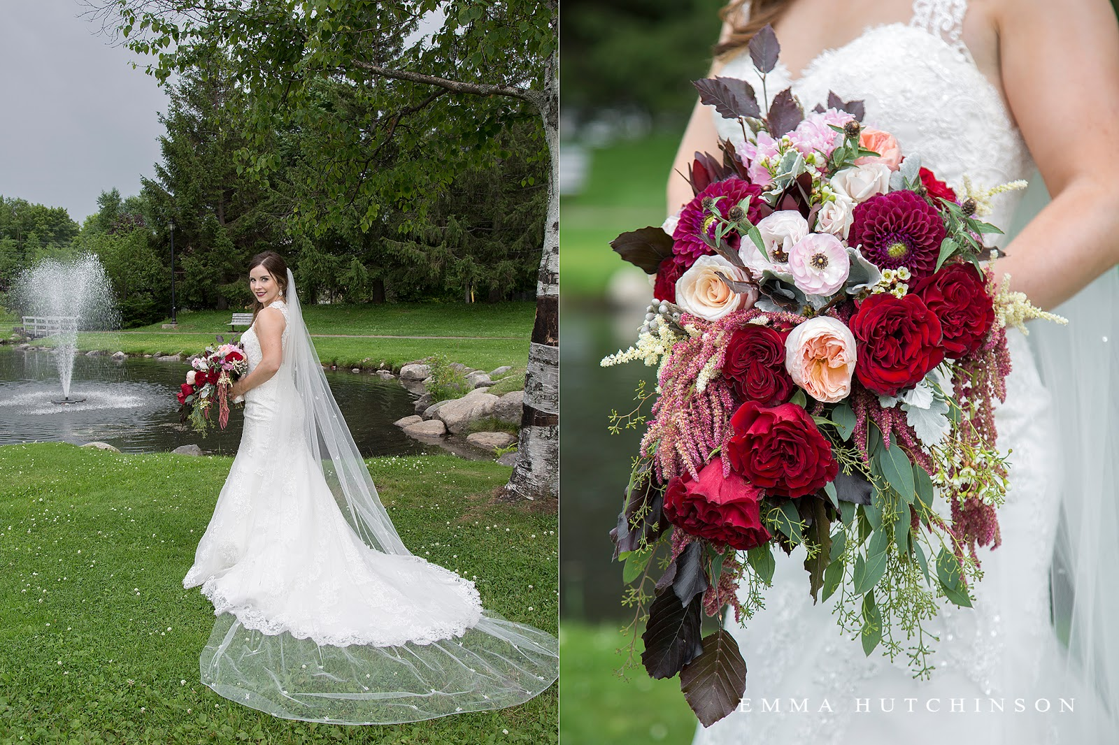 wedding bridal bouquet of peonies, dahlias and garden roses by event 3sixty