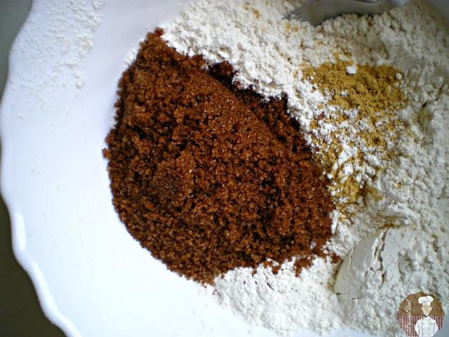 Bizcocho de jengibre con fruta confitada: Ingredientes