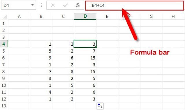 Apa itu Formula Bar di Micrisoft Excel