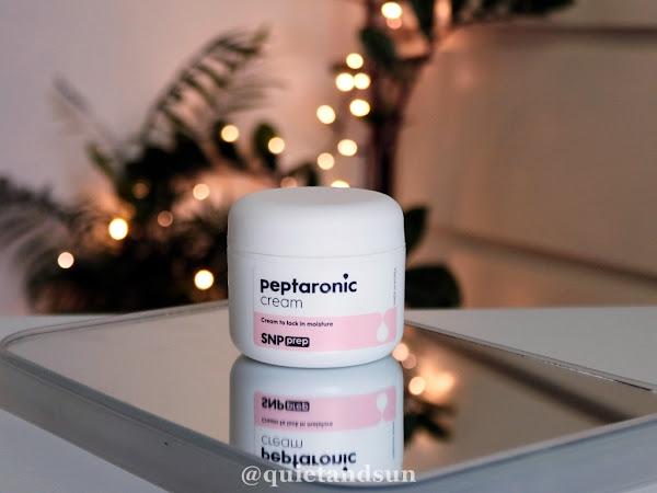 SNP Prep, Peptaronic Cream, Nawilżający krem do twarzy z kwasem hialuronowym i peptydami