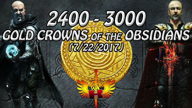 Gold Crowns of the Obsidians, 2400 - 3000 Game Gold Per gCOTO (7/22/2017) • Shroud of the Avatar Market Watch