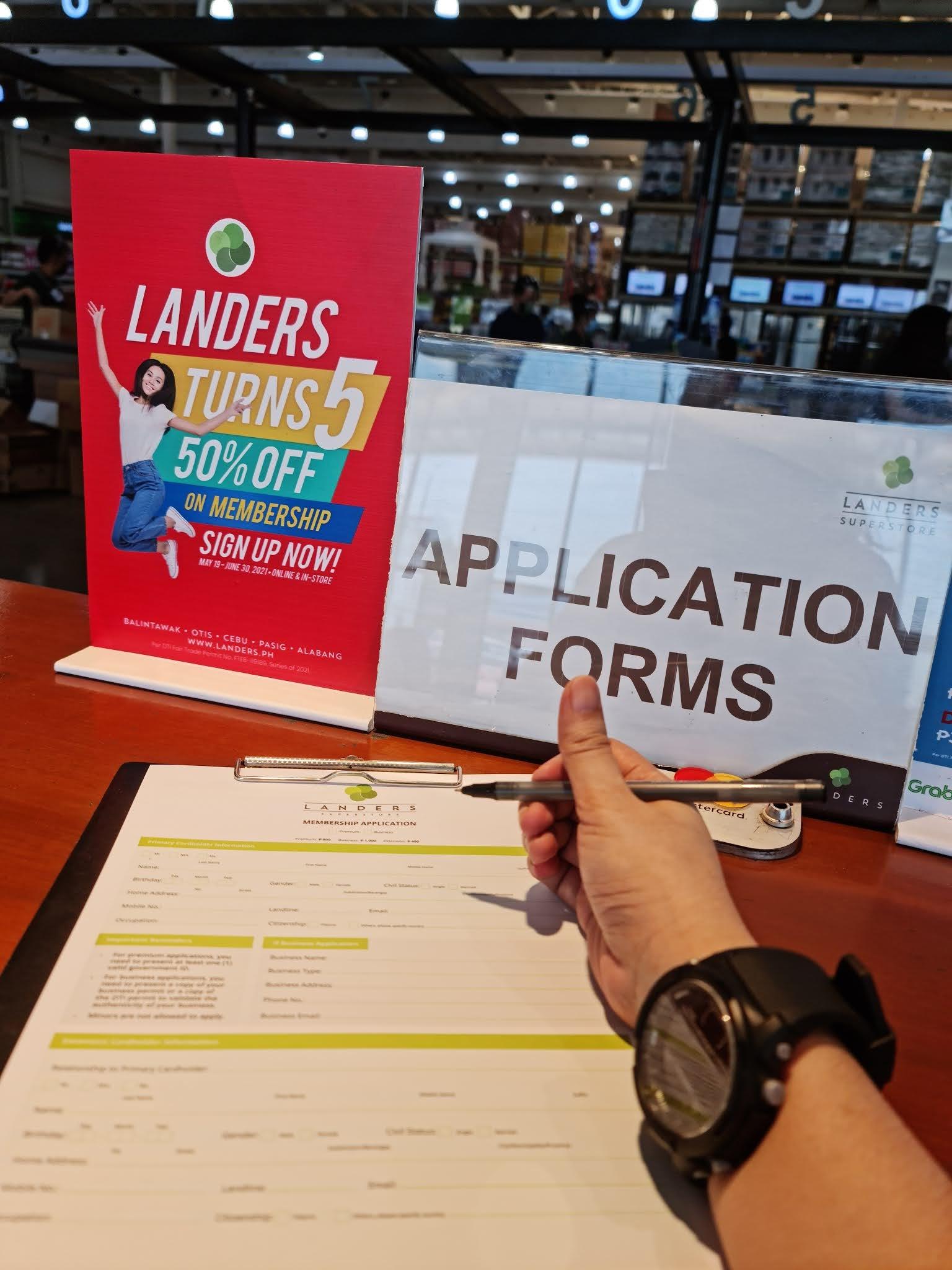 Landers membership fee 50% off until June 30,2021 only