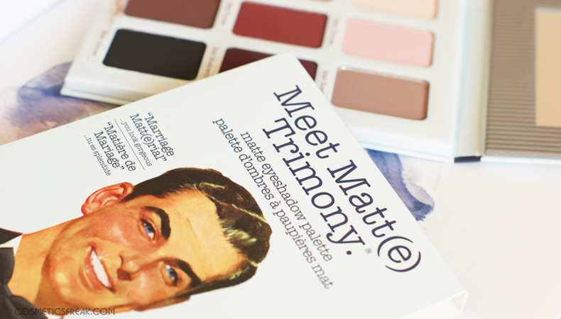 THE BALM - PALETA CIENI MEET MATT(E) TRIMONY