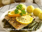 Pečený pstruh so syrovými zemiakmi - recept